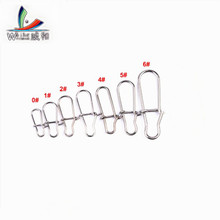 Cheap 30 Pcs Hooked Snap Safety Rotate Stainless Steel Fishing Rod Swing Hook Fishing Accessories Bait Plug Connector Tool