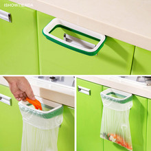 ISHOWTIENDA 2016 Solid Hanging Kitchen Cabinet Cupboard Door  Back Stand Trash Rack Style Storage Garbage Bags Trash Holder