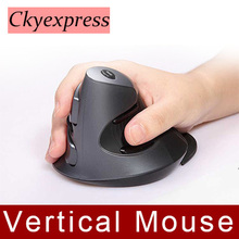 Wireless Mouse 2.4GHz Ergonomic Design Vertical mouse1600DPI JOY Wrist Pain Computer USB Mice For Laptop PC Notebook(China)