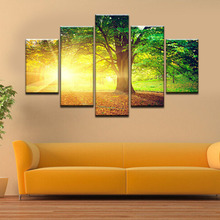 Figure 5 board pictures number of sunlight landscape of modern household adornment picture on the canvas print news photo wall a(China)
