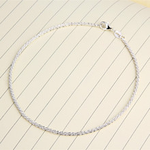2017 Simple And Generous Small Hemp Rope Ankle  925 Silver Jewelry Anklets For Women Foot Bracelet  Enkelbandje Anklet