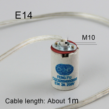 E14 Lamp Bases, 1m Cable length lampholder with cord Lamp DIY(China)