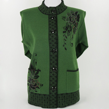 In the elderly women 's spring and Spring loaded a thick sweater cardigan grandmother loaded sweater elderly clothes(China)