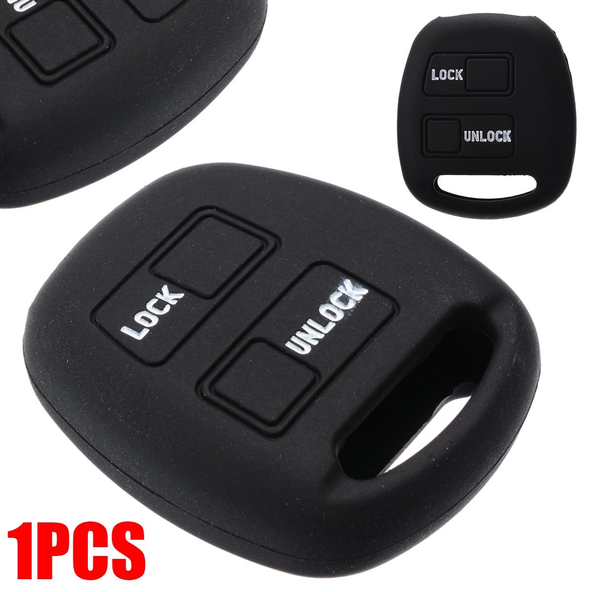 Funda de silicona para la mando de 3 botones para el Land Cruiser en negro Cover