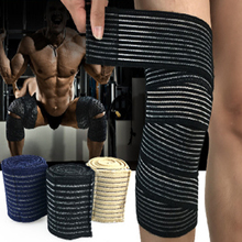 1pc Elastic Knee Bandage Support Knie Bandages Compressport Cycling Volleyball Basketball Gym Weight Lifting Knee Wraps(China)