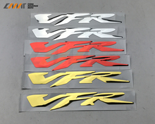 CHROME MOTORCYCLE EMBLEM BADGE DECAL 3D TANK WHEEL LOGO FOR HONDA VFR400 VFR800 VFR1200 STICKER(China)