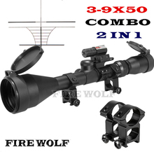 Buy Fire Wolf Optical Sight 3-9x50 Riflescope Hunting Optics Y0038 25.4mm Scope Mount Red Laser Sight Ddd Airsoft Ak 47 Hunting for $33.88 in AliExpress store
