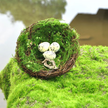 Artificial Nest Emulation Straw Nest Simulation Nest Foam Egg Moss Crafts Home Garden Outdoor Decorative Wedding Decoration(China)