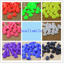 free shipping 2016 ABS 10mm Sewing Spikes Punk Mixed Color Plastic Studs Nailhead Rivet DIY fIphones Mobile Accessory 10pcs/lot(China)