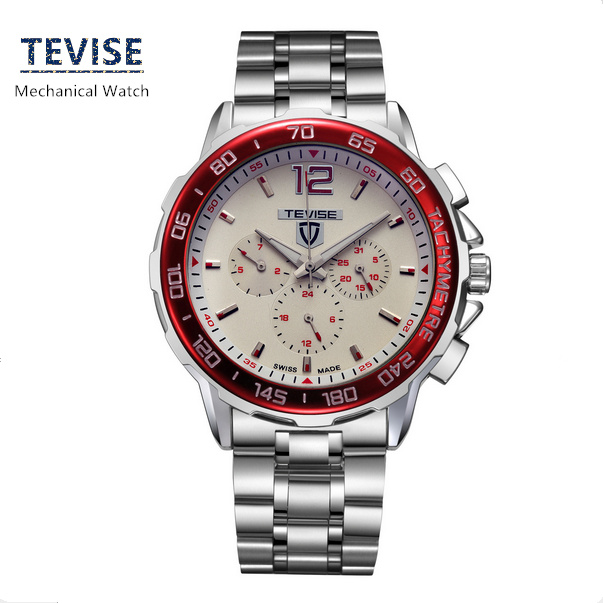 Fashion Mens Automatic Self-Wind Brand Watches Silver Steel Strap Mens Gift Watch New Business Watches Man A025<br><br>Aliexpress