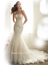 Vestido Noiva Praia	 Custom Made White/Ivory Tulle Luxury Appliques Beading Pearls Lace Wedding Dress Bridal Dresses 2017