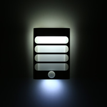 1W 3.7V LED Motion Sensor Lamp Light Activated Night Light USB Wireless Rechargeable Wall Lamp Pure White Warm White(China)