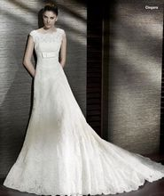 Plus Size Long Wedding Dress with Train Boat Neck Trumpet Bride Gown Appliques Fancy Robe De Mariage 2015
