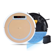 ILIFE X5 Smart Robot Vacuum Cleaner for Home 2 in 1 Dry and Wet 800PA HEPA Cliff Sensor Self Charge ROBOT ASPIRADOR