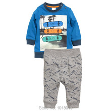 New 2017 Brand Quality 100% Cotton Baby Boys Clothes Sets 2pcs Children Clothing Suits Long Sleeve Bebe Kids Clothing Sets Boys(China)
