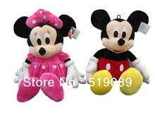 Free Shipping 1 Pair Mickey Mouse And Minnie Animal Toys,50cm Mickey and Minnie Plush Toys For Christmas Gifts