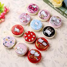 Hello Kitty Cartoon Coin Purse Candy Color Children's Wallet Earphone Organizer Storage Box Headset(China)