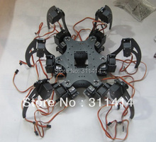 1set Aluminium Hexapod Spider Six 3DOF Legs Robot Frame Kit Fully Compatible with Arduino(China)