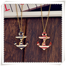 New fashion jewelry oil anchor pendant necklace good quality gift for women girl Wholesale N1394