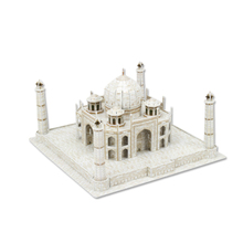Development of intelligence,Educational toys,good quality,foam,emulational,best gifts,paper model,building,taj mahal,3D PUZZLE