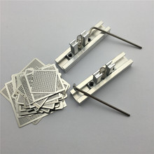 1Set 29pcs Universal Direct Heating BGA Stencils Templates + 2pcs Reballing Jig For Chip Rework Repair Soldering Kit