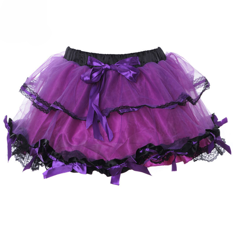 New-Adult-Purple-Mini-Short-Sweet-Sexy-Club-Skirts-Womens-Multilayer-Ball-Gown-Gothic-Lolita-Skirt