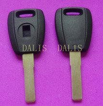 NEW Replacement cover transponder key shell for Fiat / car key case with sticker black color
