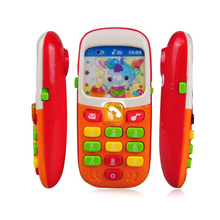 Baby Toy Phone Kid Mobile Phone Electronic Musical Cellphone Telephone Children Cheap Smartphone Educational Toy baby Telefoon(China)