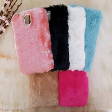 Luxury Winter Warm Fluffy Soft Rabbit Hair Fur Plush Case Hard back Cover For Samsung Galaxy Note 2 / 3 / 4 N7100 N9100 N9000