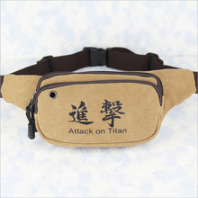 Canvas waist bag/chest bag of Japanese Anime Attack on Titan
