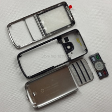 Silver Russian Keypad Keyboard Housing Cover Case For Nokia 6700 6700C Classic + Repair Part