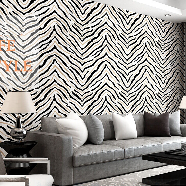 Black and white Zebra 3d wallpaper rolls for living room sofa background 3d wall paper 3d papel de parede 3d wallcoverings<br>