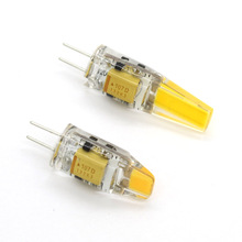 CE&RoHS Silicone LED G4 3W 6W Lamp Bulb COB SMD AC / DC 12V Lighting Lights Replace Halogen for Chandelier 360 Beam Angle