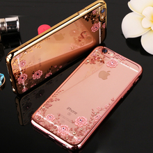 KaiNuEn girl diamond rose gold pink soft tpu back capinha,case,coque,cover for apple iphone 5 5s 5se 5 se s silicone cases phone(China)