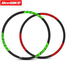 1Pcs Beebike Brand Carbon Wheels Bicycle Rims for Mountain Bike 27.5er Wheel 28/32 holes 3K Matt Design Top Quality bike rims(China)