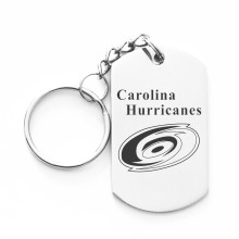 Fashion Carolina Hurricanes Team Keychain Stainless Steel Dog Tag Charms Keychain Key Ring Holder For Hockey Fans(China)