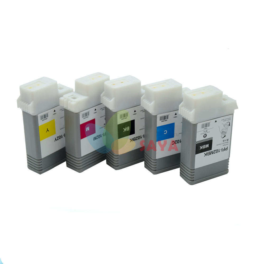 8pcs compatible PFI-101 series ink cartridge For Canon iPF 5100 IPF 6100 Wide format printer 8color with chips and pigment ink<br><br>Aliexpress