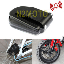 Motorcycle 6mm Anti Theft Security Motorbike Bike Disc Lock Loud Alarm Scooter Theft Protection