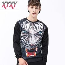 3D Coat Men Sweatshirts Pullover Slim Fit Jacket  Spring Autumn Coat Hip Hop Clothing long Sleeve Newest  Tigers Printing HOT