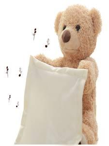 Plush-Toy Teddy Gift Peek Seek Birthday Electric Cartoon Stuffed Cute Boo 30cm Xmas Bear-Play