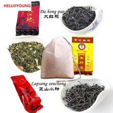 Promotion 12 bags Organic Chinese Different flavors Tea Black Tea Lapsang souchong Oolong Tea Dahongpao Liver Tea