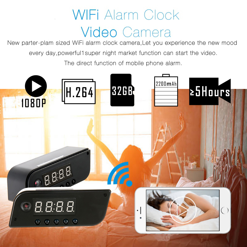 Volemer-Hot-Fashion-Mini-Camera-Clock-Alarm-AP-STA-1280x720-Night-Vision-Dowmland-Vedio-Wifi-Cam (3)
