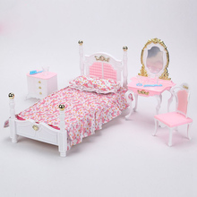 CXZYKING New  Furniture Cozy Cottage Sweet Dream Bed Room For Barbie Doll House Toys For Girl Doll Furniture Accessories Bed