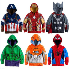 2019 jungen Hoodies Sweatshirts Avengers Marvel Superhero Iron Man Thor Hulk Captain America Spiderman Sweatshirt Kinder Jacken(China)