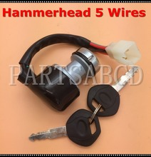 Hammerhead 5 Wires Ignition Key Switch Pigtail(STD,SS) 150CC 250CC Go Kart Buggy 6.000.020(China)