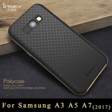 iPaky Brand cover For samsung Galaxy a5 a7 a3 2017 case cover Armor pc Frame + silicone back cover For samsung a5 a7 2017 cases(China)
