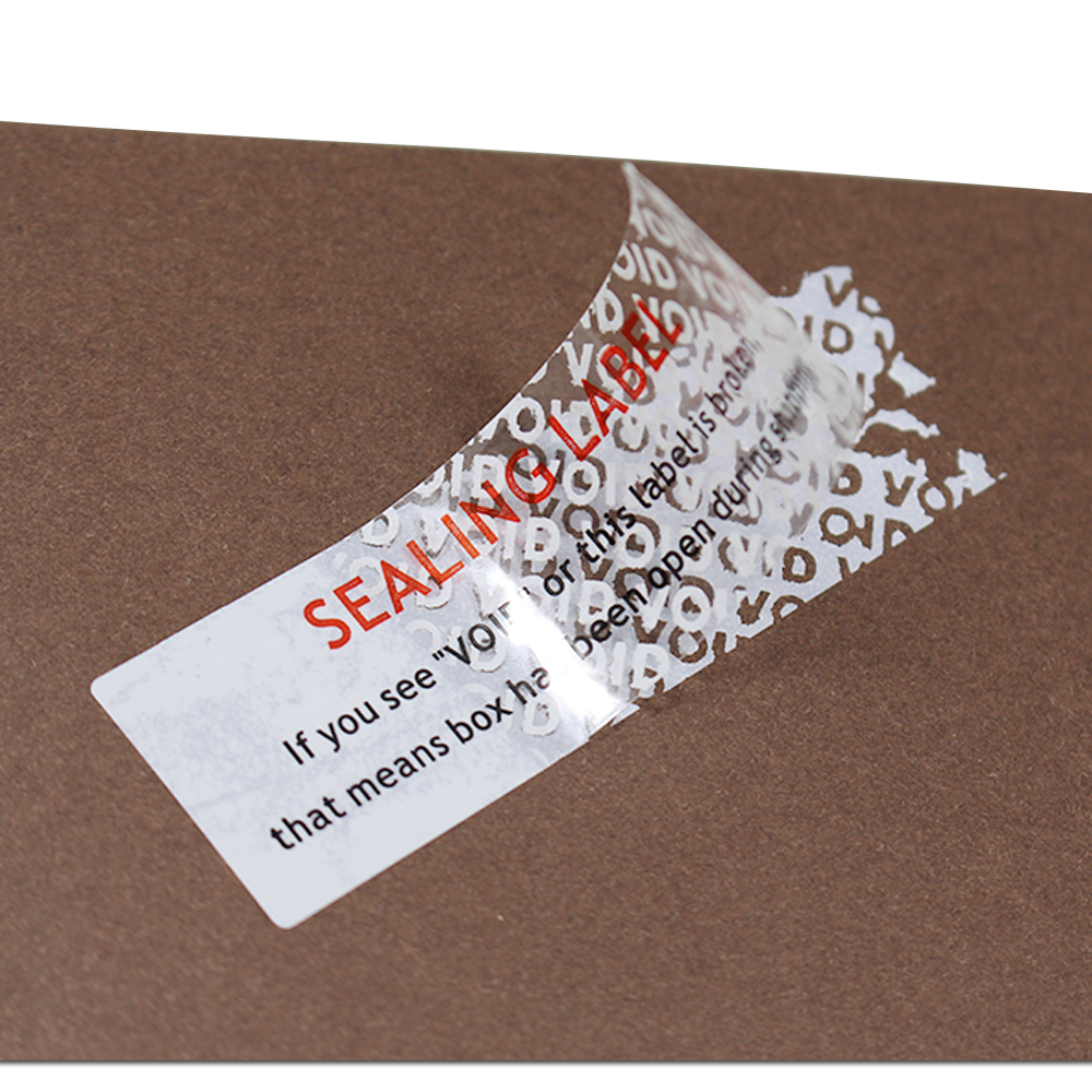 Retail Self Adhesive Tamper Sticker Labels Shipping Avoid Damage Stickers Document Bag Sealing Label Stickers VOID If Damaged <br>