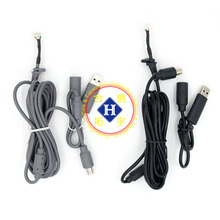 Black / Grey 1.8M USB Play Cable For XBOX 360 / XBOX 360 Slim wired controller repair part