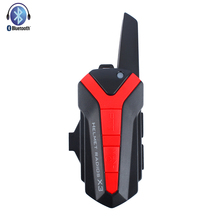 Motorcycle Bluetooth Intercom for Group Riders Max 3000M Connect Motobike Helmet Wireless Interphone Headset with PTT Control