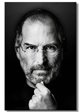 Free Shipping! Popular Wallpaper! 2015 New Steve Paul Jobs Fashion Retro Wall Sticker, Home Decor Poster,Unframed K213